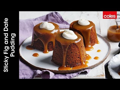 How to make sticky fig and date puddings