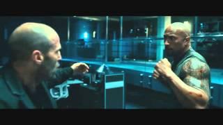 Форсаж 7   Джейсон Стэтхэм vs Дуэйн Джонсон Fight HD 1080p
