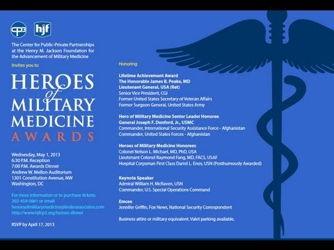 2013 Heroes of Military Medicine Awards (Part 1)