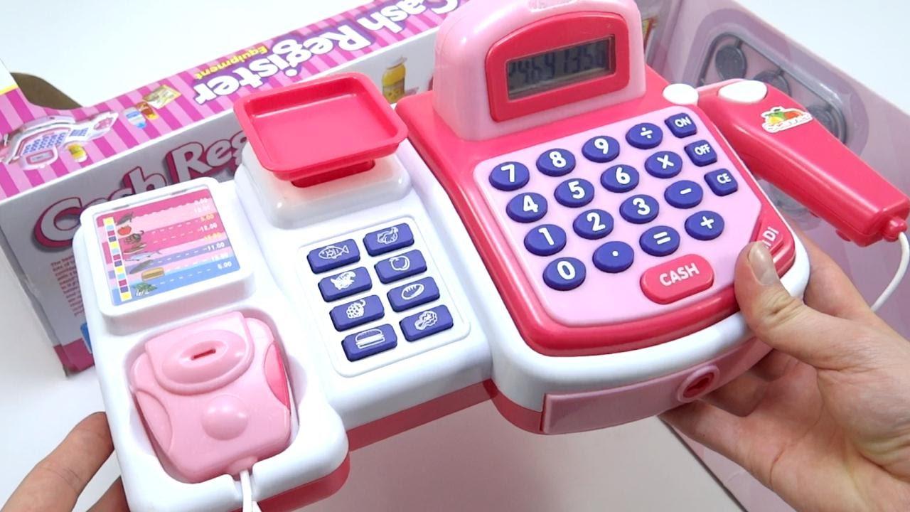 Caja registradora de juguete toy cash register pink 24 - Caja registradora juguete ...