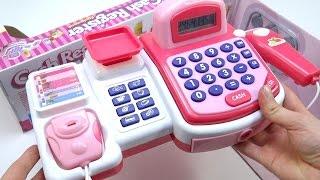 CAJA REGISTRADORA DE JUGUETE TOY CASH REGISTER PINK 24 Accessories LCD CALCULATOR Para Niñas