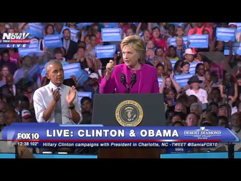 FULL: President Obama And Hillary Clinton Campaign Event (FNN)