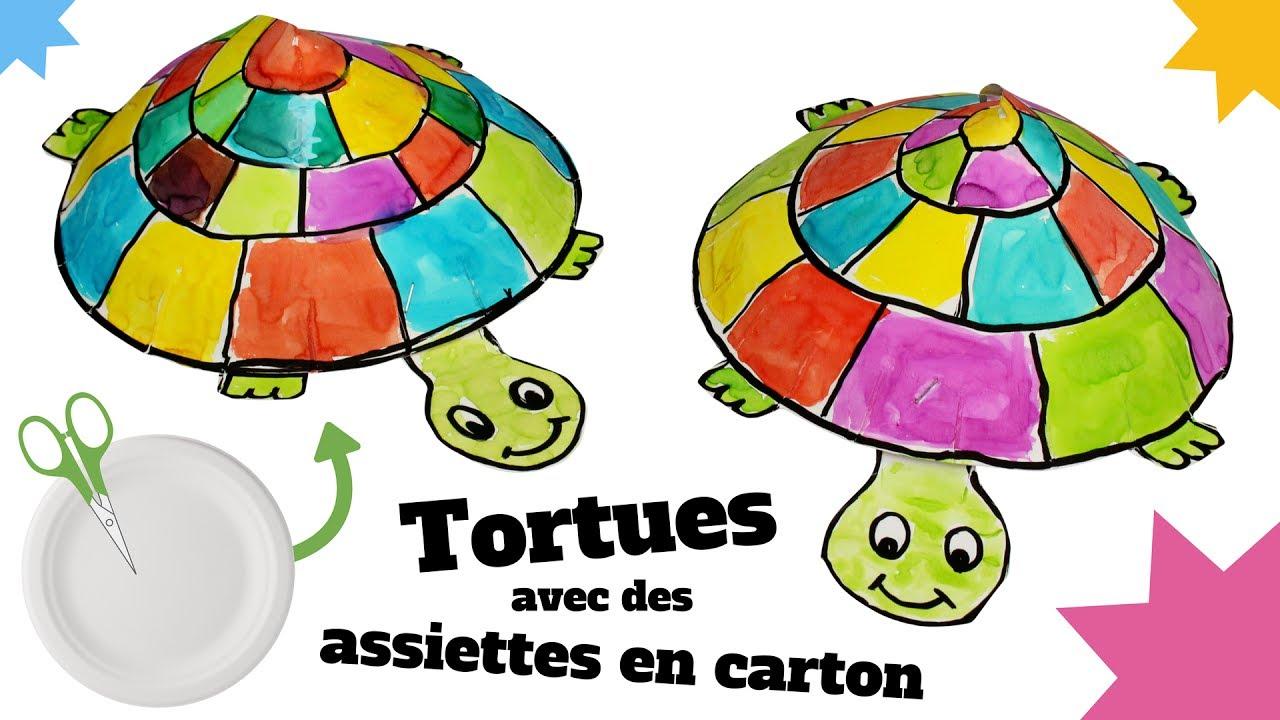 tuto diy fabriquer une tortue avec une assiette en carton bricolage facile pour enfants. Black Bedroom Furniture Sets. Home Design Ideas