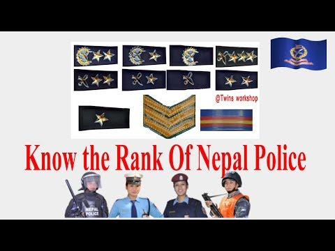 Identify The Rank Of Nepal Police   Lok sewa Help  