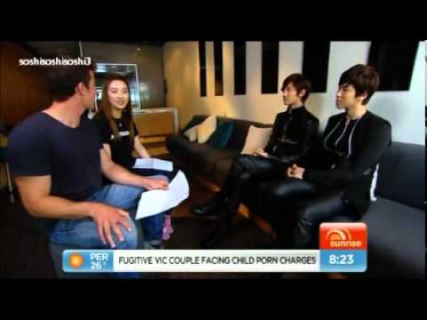 111119 SNSD @  Aust. Yahoo TV Australia Sunrise News cut (K-Pop Music Fest in Sydney)