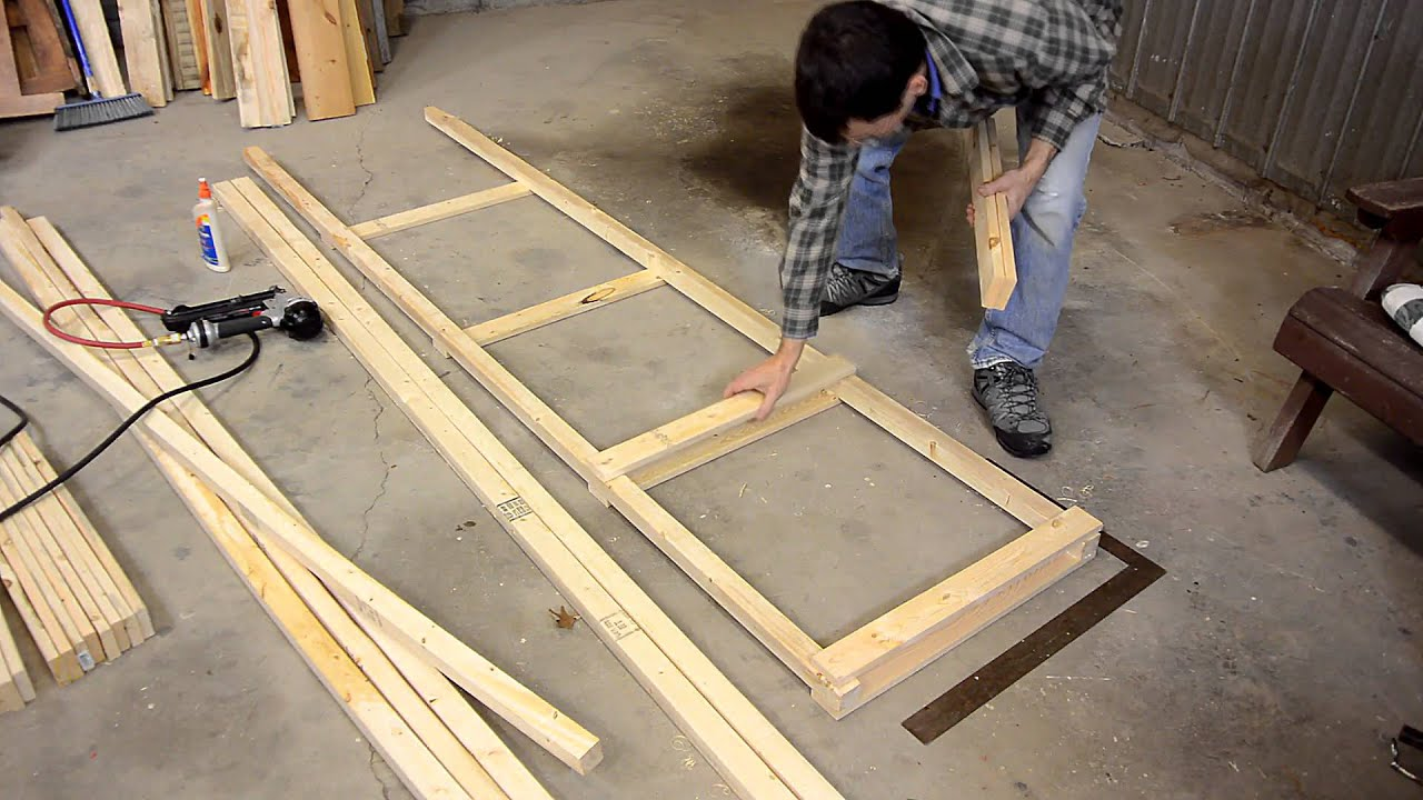 Building a big garage shelf - YouTube