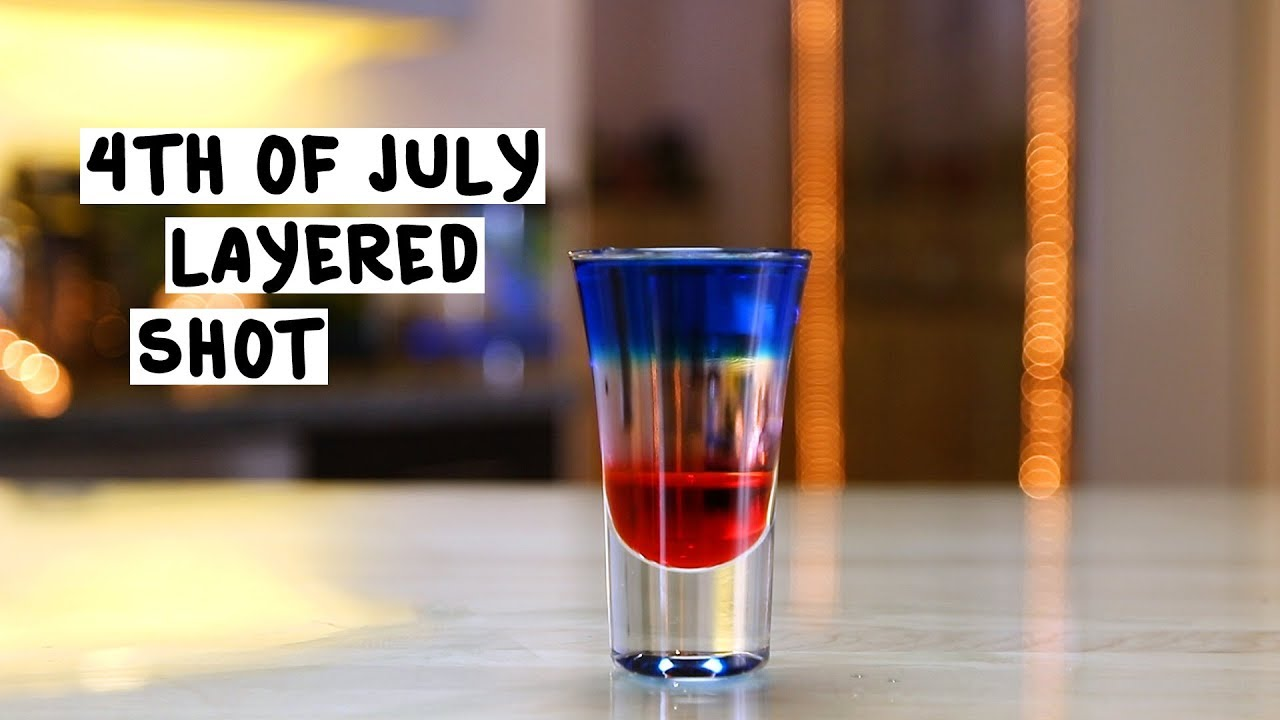 4th Of July Layered Shots Tipsy Bartender