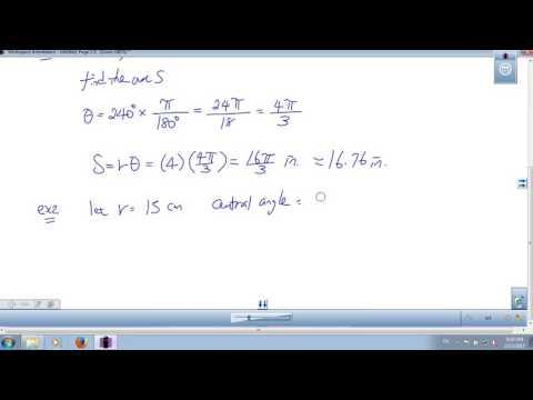 Trigonometry Lesson 5 Arc Length Degree Minute and Seconds