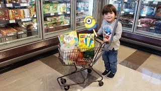 Zack Buy Ice Cream and Healthy Food from the Store! Family Fun Vlog