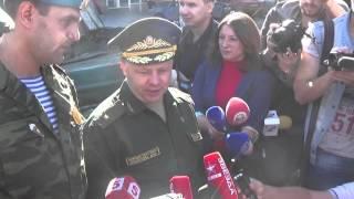 Торжественное вручение боевого знамени Гвардейской бригаде специального назначения ДНР
