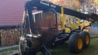 przyczepa leśna z napędem 4WD