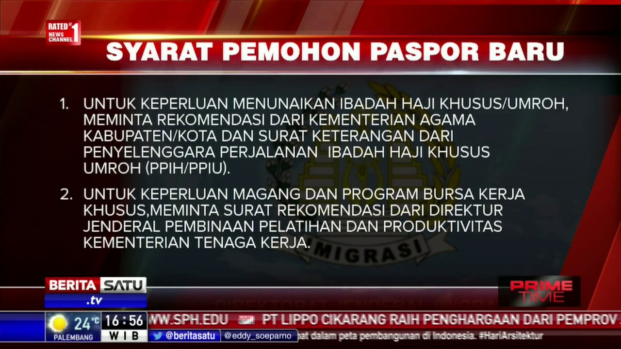 inilah syarat syarat pembuatan paspor baru youtube rh youtube com