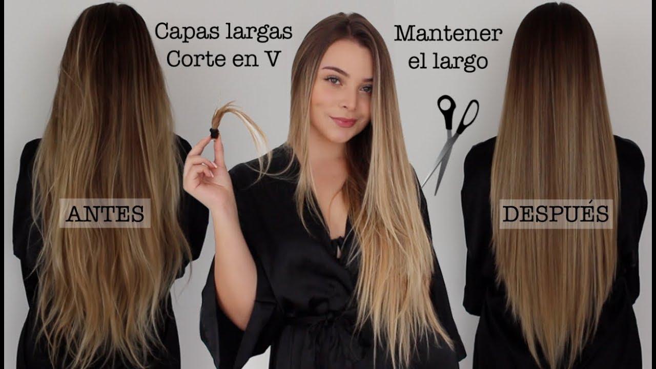 Cómo Cortar Tu Cabello En Capas Largas Y En V Manteniendo El Largo Maqui015 Youtube