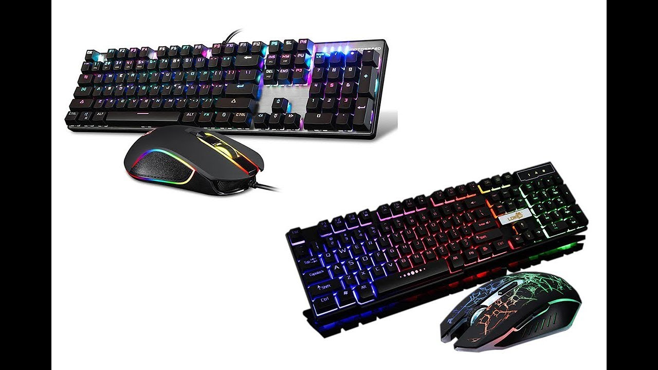 Motospeed Keyboard And Mouse Gaming Combo RGB Backlit Blue Switches USB PC CK888