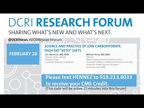 """DRF 17: Science and Practice of Low Carbohydrate, High Fat """"Keto"""" Diets"""