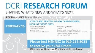 "Drf 17: Science And Practice Of Low Carbohydrate, High Fat ""keto"" Diets"