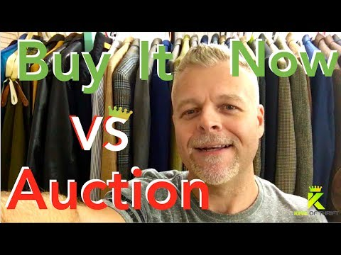 BUY IT NOW vs AUCTION. Selling on Ebay. HOW Should You List