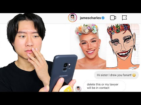 I drew 9 popular beauty gurus ugly fanart and sent them as DMs *i'm getting sued* thumbnail