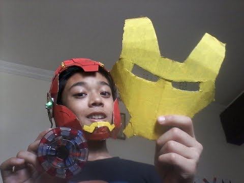 Fully functional ironman helmet and arc reactor.