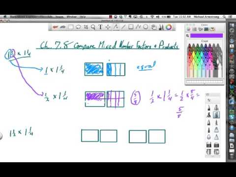 5th 7.8 Compare Mixed Number Factors and Products