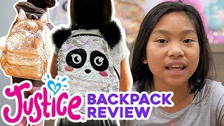GIRLS BACKPACK REVIEW 💗 JUSTICE
