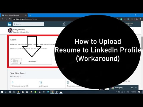 How To Upload Resume To Linkedin Profile 2020 Youtube