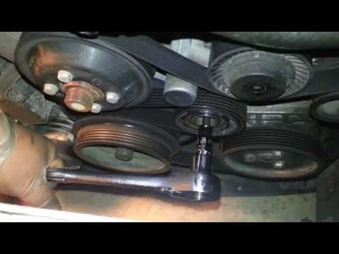 2003 BMW 330i E46 Replace Serpentine Belt n Pully - YouTube