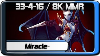 Dota 2 | Miracle- QoP ✪ 8101 MMR / 33-4-16 ✪ Pro Gameplay