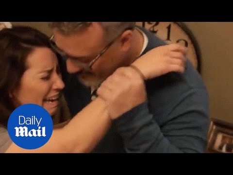 Woman meets biological father for the first time