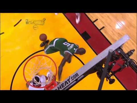 LeBron James destroys Kevin Garnett with a block vs. Boston Celtics 2011 NBA Playoffs (HD)