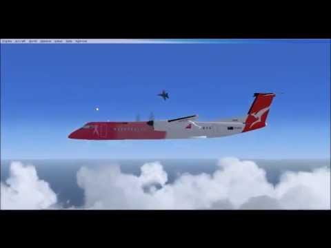 FSX VA flight from EIDW to EGLL in Dash 8-Q-400