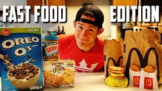 FULL DAY OF EATING (FAST FOOD EDITION) | Q&A