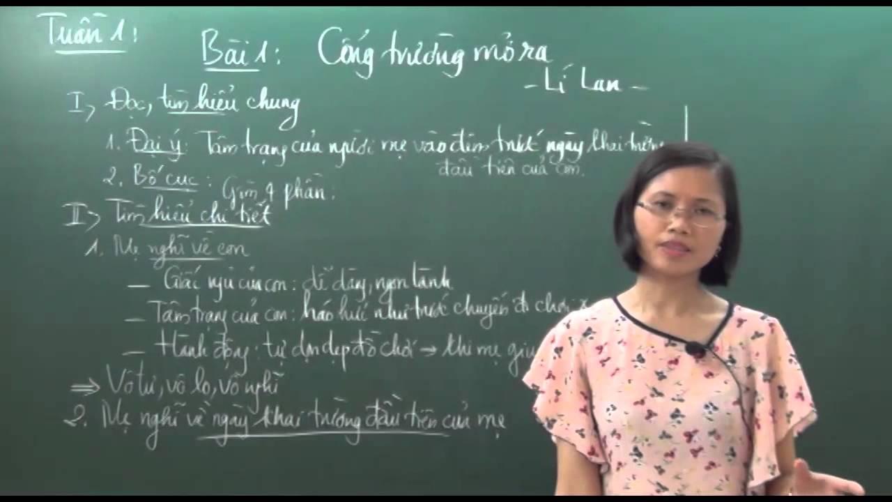 Ngữ Văn 7 – Cổng trường mở ra – Cô Trần Vân Anh [HOCMAI]
