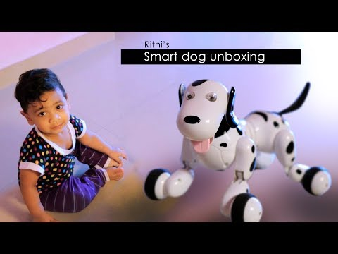 Robot dog unboxing | new smart pet for rithi