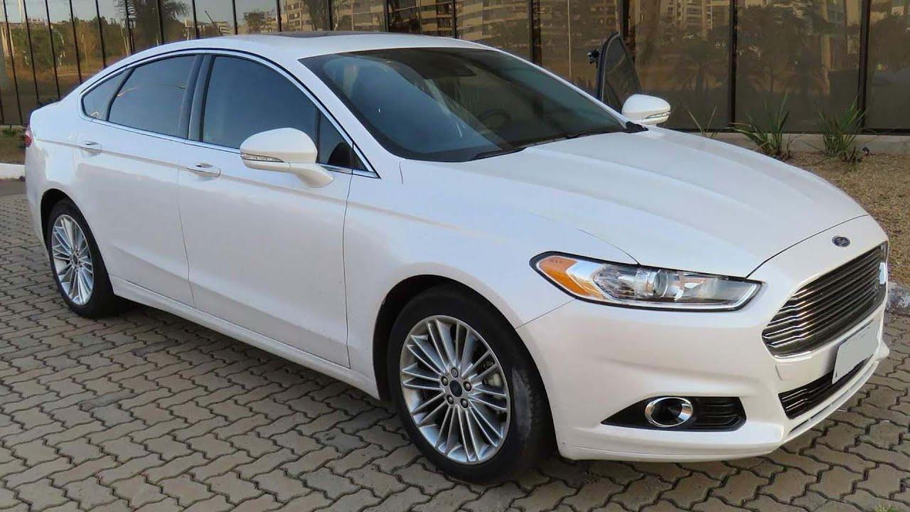 Ford Fusion 2015 Titanium Fwd Branco Perola Com Teto Detalhes Www Car Blog Br Youtube