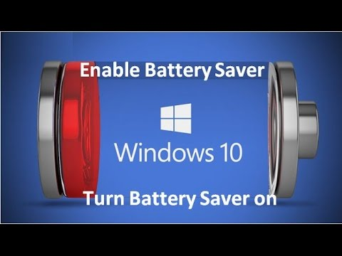 How to Enable Battery Saver In Windows 10 - YouTube