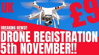 UK Drone Registration - Launches 5th November 2019!! - Full details of £9 Fee - Geeksvana Drone News