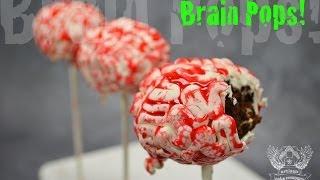 How To Make Brain Cake Pops Tutorial