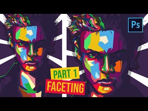 [ Photoshop Tutorial ] How to Create WPAP in Photoshop - ( PART 1 FACETING ) thumbnail