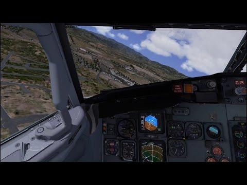 [X-Plane 10] IXEG 737 MHTG Toncontin descent and landing