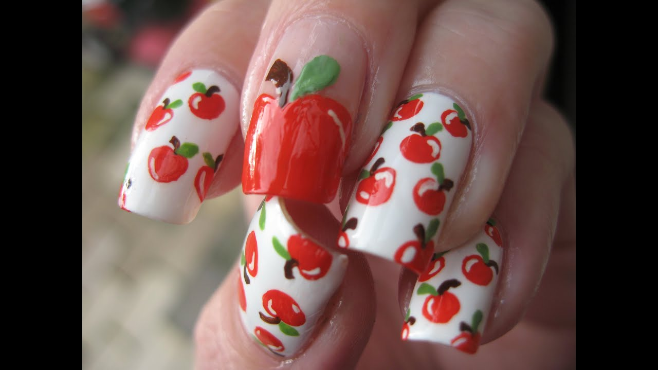 Nail Art Apple Delicious Youtube