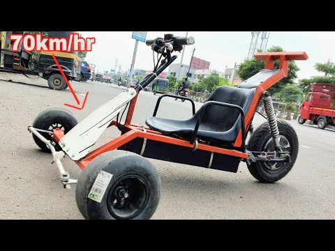 how to make 3 wheel electric Go Kart at home    DIY PROJECT