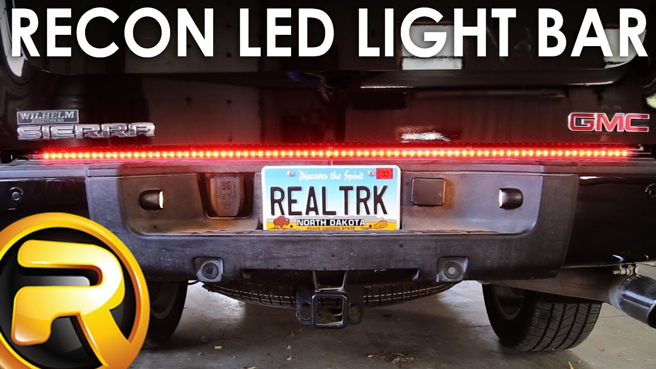 how to install the recon led light bar