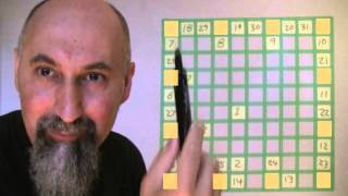 ASMR Math: 10 by 10 Math Puzzle: a Pattern Recognition Game - Male, Soft-Spoken, Paper