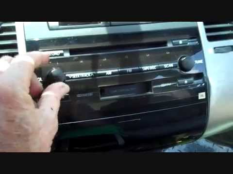 How to Toyota Prius Hybrid Car Stereo Removal 2004 - 2009 replace repair