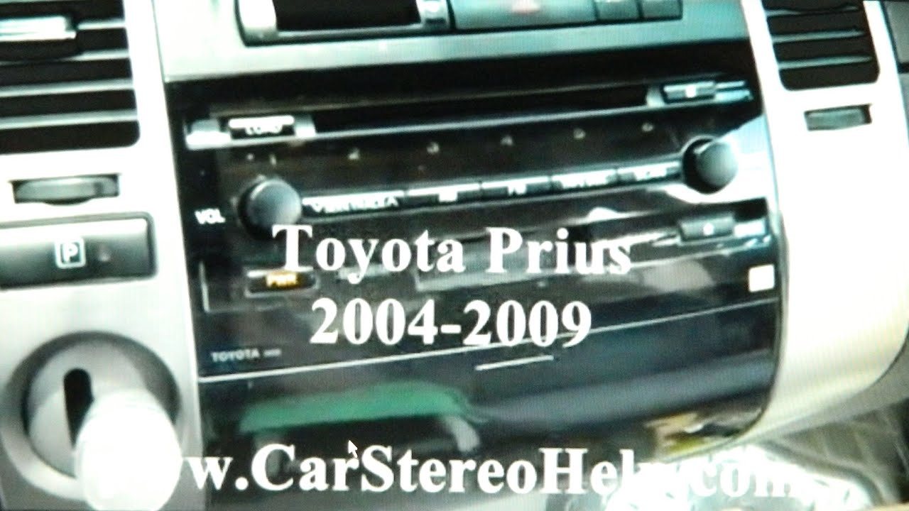 How To Toyota Prius Hybrid Car Stereo Removal 2004 2009 Replace Wiring Diagram Repair