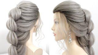 Легкая и быстрая прическа Прически на средние и длинные волосы Прически на каждый день
