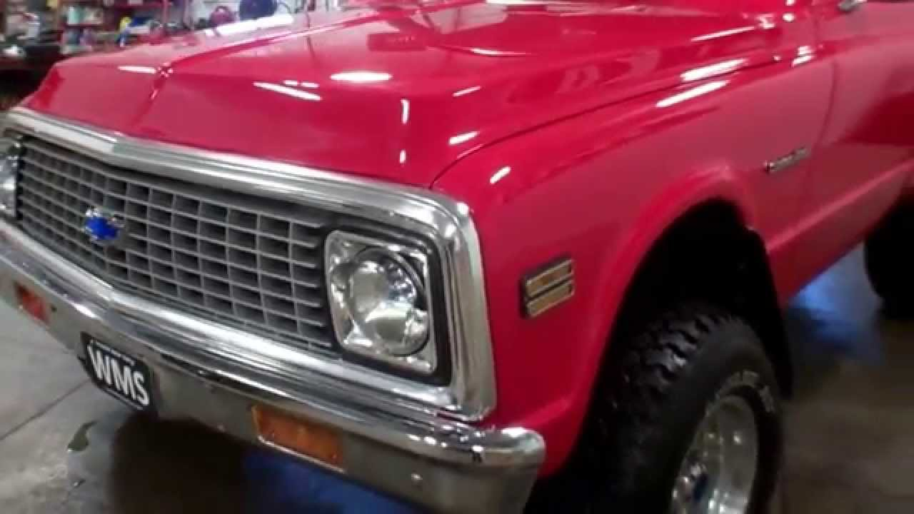 hight resolution of 1971 sold chevy 4x4 short bed pickup truck wmsohio com andy swavel paul wagner youtube