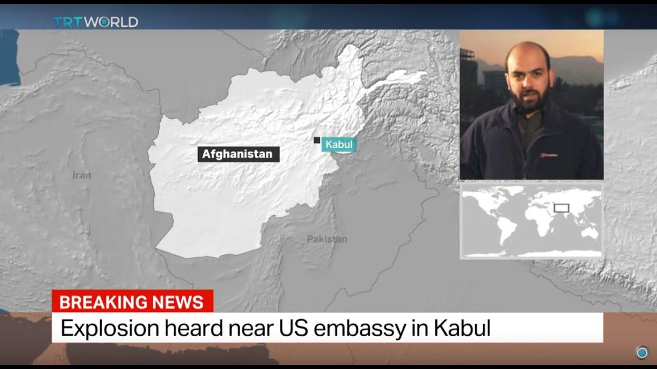 Explosion heard near US embassy in Kabul, Bilal Sarway reports - YouTube