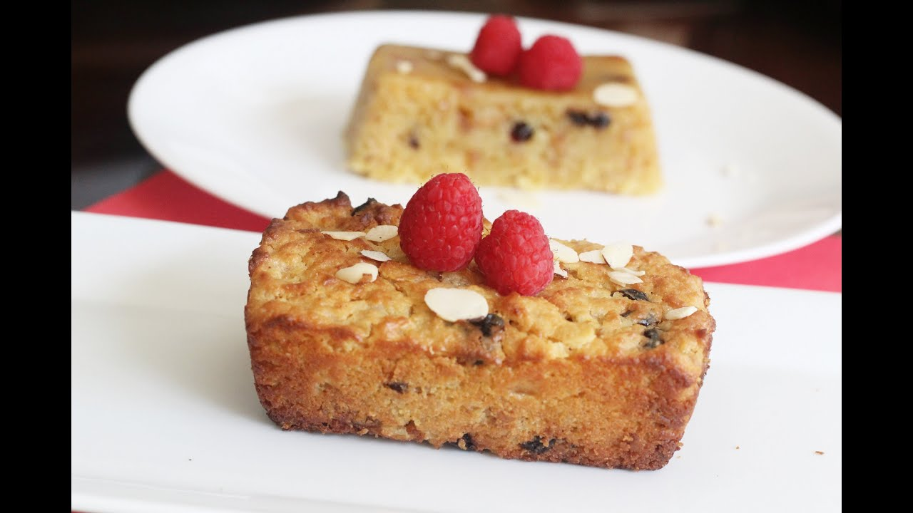 Eggless Custard Bread Pudding Baked In Cooker Microwave